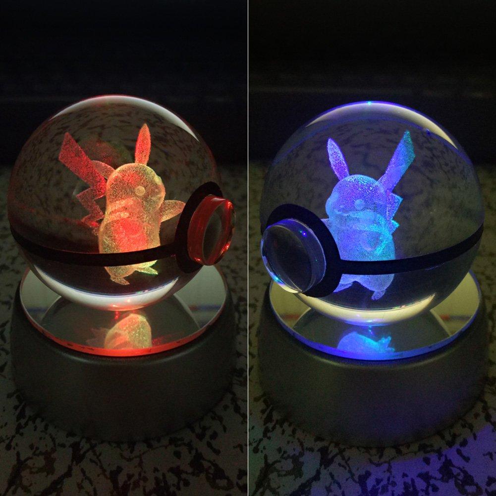 LED-Nachtlicht f/ür zum Beispiel Kinder oder als Geschenk 50 mm gro/ße Kristallkugel mit automatischer Farbver/änderung Modern Charizar WZLPY 3D Kristall-Ball