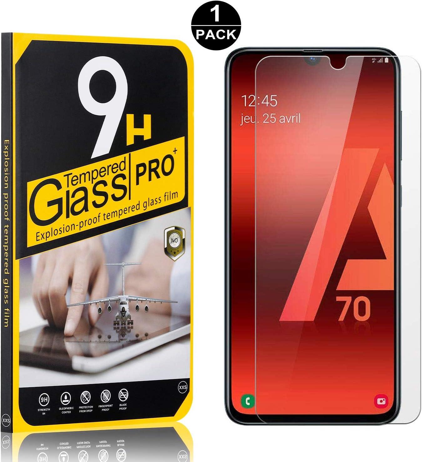 SONWO Galaxy A70 Protector Pantalla, Dureza 9H Alta Definicion Anti-rasguños, Protector de Pantalla Vidrio Templado Premium Para Samsung Galaxy A70, 1 Piezas: Amazon.es: Bebé