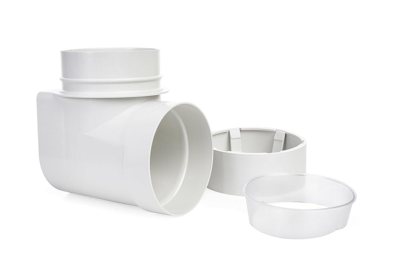 Ziggurat Dryer Duct Connector | STV-90 Version 2 | Laundry Dryer Snap to Vent 90 Degree Elbow