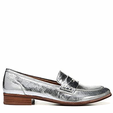 29f093759c14 Image Unavailable. Image not available for. Color: Franco Sarto Women's Jolette  Penny Loafer Silver