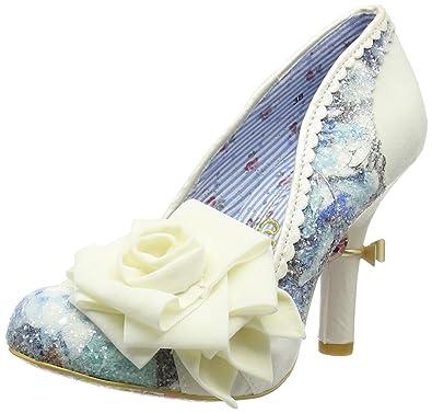 3954cf96f2764 Womens Irregular Choice Washington Glitter Floral Court Shoe High Heel