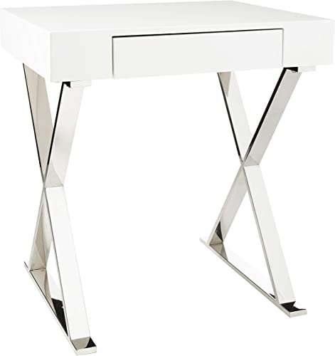 Whiteline Contemporary Modern Elm High Gloss Desk