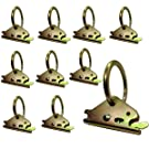 Ten Pack Steel E-Track O Ring Tie-Down Anchors for E-Track TieDown System, Secure Cargo in Enclosed/Flatbed Trailers, Trucks (ETrack Rails Not Included) (10)