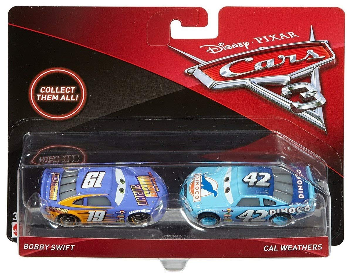Disney Cars Cars 3 Bobby Swift & Cal Weathers Diecast 2-Pack [並行輸入品] B07L3DV73H