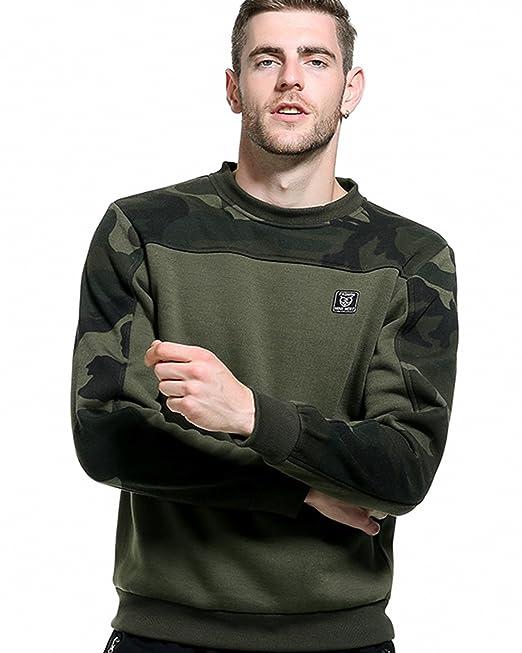 ROCKBERRY Mens Plain Sweatshirt Jumper Sweater Pullover Work Casual Leisure Top