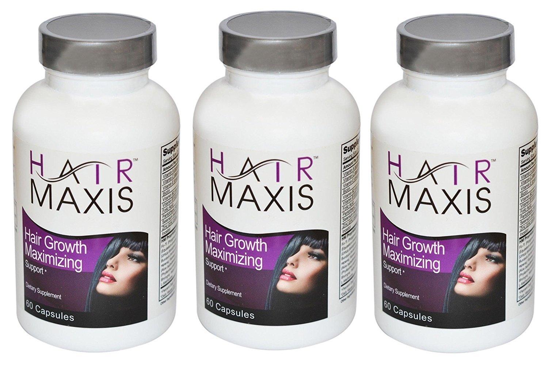 3 xbottle de pelo Maxis Suplemento apoyo crecimiento más rápido más sano más suave evita pérdida de cabello: Amazon.es: Salud y cuidado personal