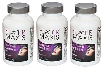 3 xbottle de pelo Maxis Suplemento apoyo crecimiento más rápido más sano más suave evita pérdida