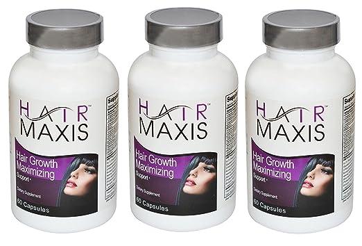 3 xbottle de pelo Maxis Suplemento apoyo crecimiento más ...