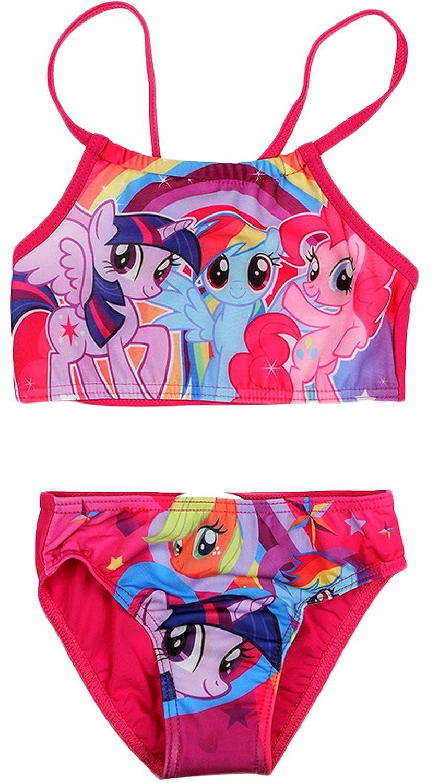 d32435400cc22 MLP Girls My Little Pony Swimming Costume/Bikini: Amazon.co.uk: Clothing