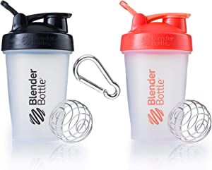 Classic Blender Bottle with Stainless Steel Wire Whisk Ball - The World's Best Selling and Original Iconic Design - BPA and Sulfate Free for All of Your Shaker Bottle Needs - 2 Pack (Various Colors)