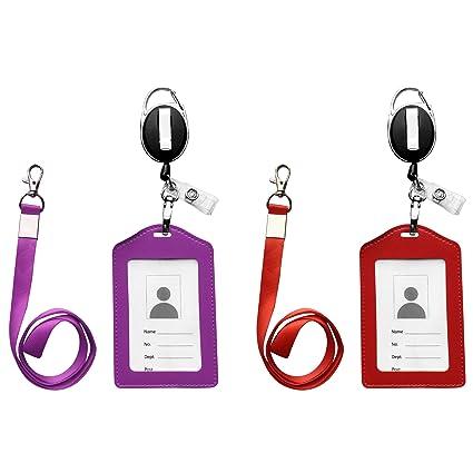 bfa50af11a1e Amazon.com : ID Card Case + Heavy Duty Lanyard + Badge Holder ...