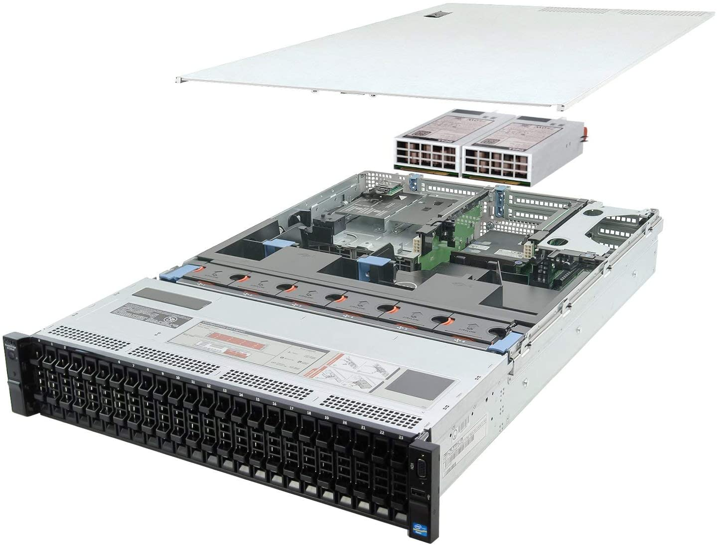 Dell PowerEdge R720xd Server 2X 2.50Ghz E5-2640 6C 32GB 2X Caddies Mid-Level (Renewed)