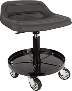 Topflight mechanics seat with adjustable height