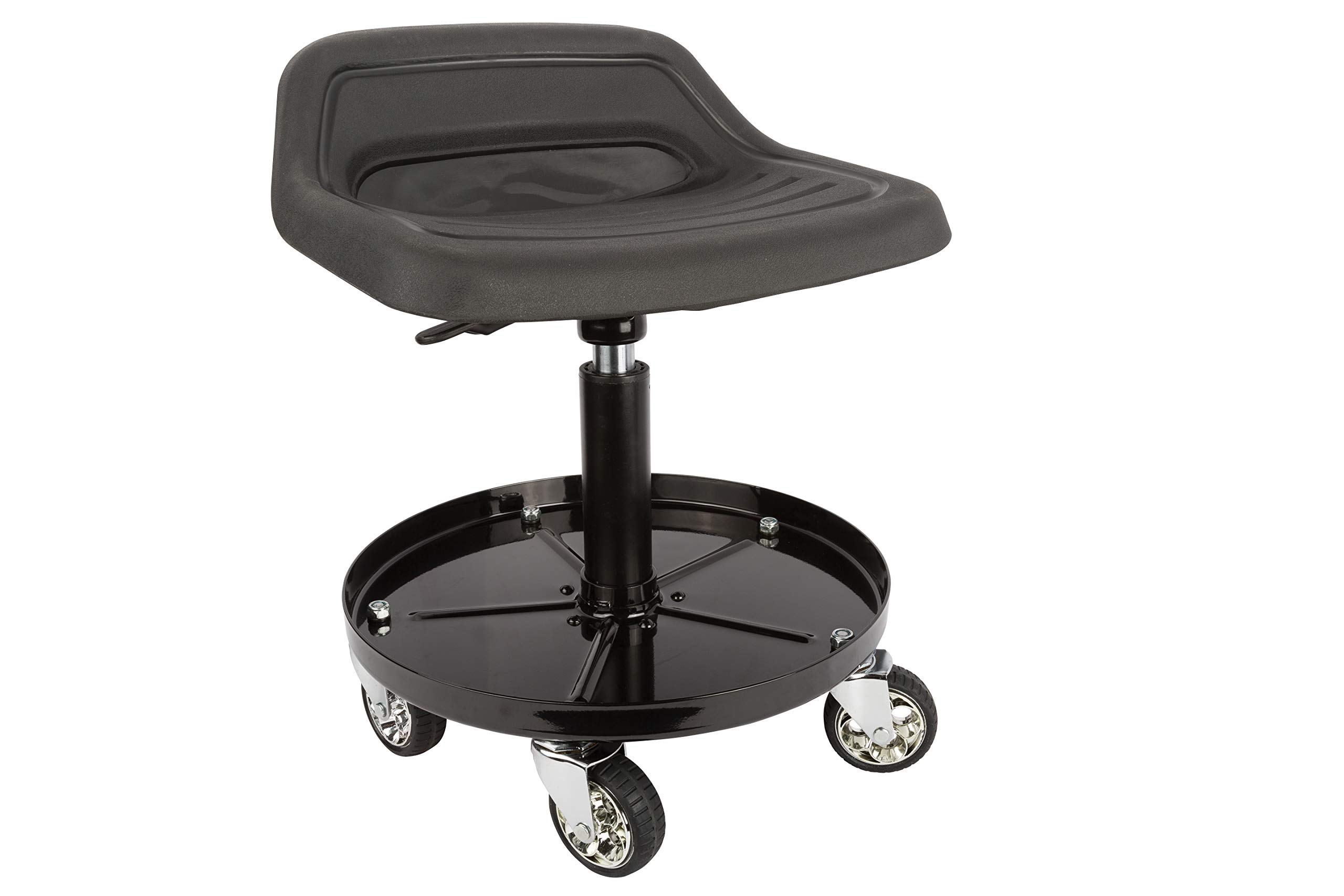 Sunex 8514 300-Pound Capacity Telescoping Tractor Seat with Parts Tray and 3.5-Inch Heavy Duty Casters by Sunex Tools