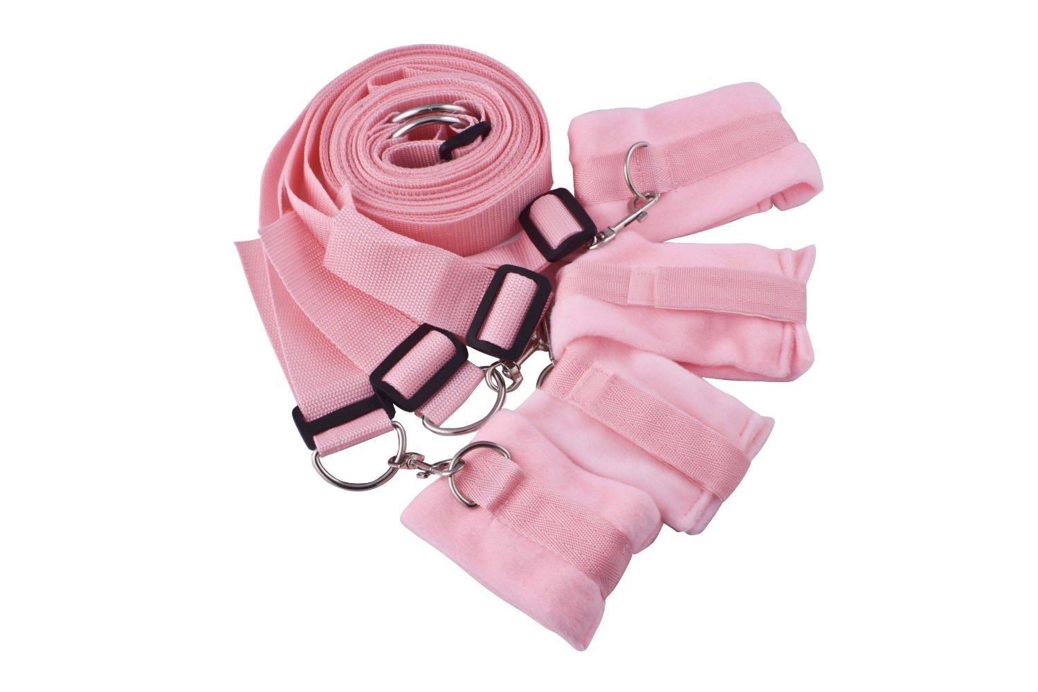 Sex Toys for sexual life,hands tied under the bed restaint with 4 cuffs,Pink sweety