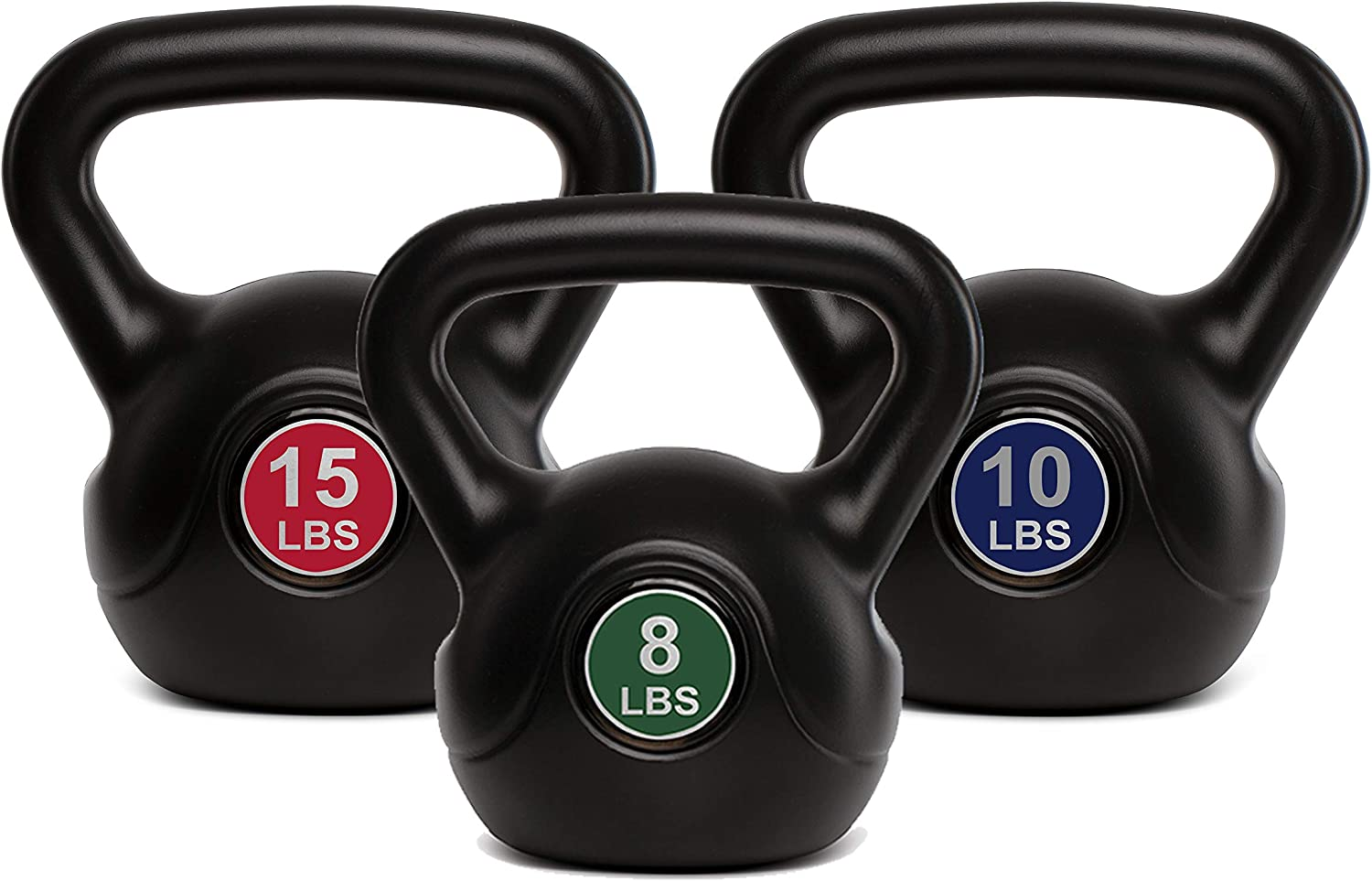 Dumbbell Weight Plastic Shell 10 lb,15lb Weights Men Fat Burning 8 lb Weightlifting TKO Kettlebell Soft Neoprene Home Gym Workouts Women Core Fitness