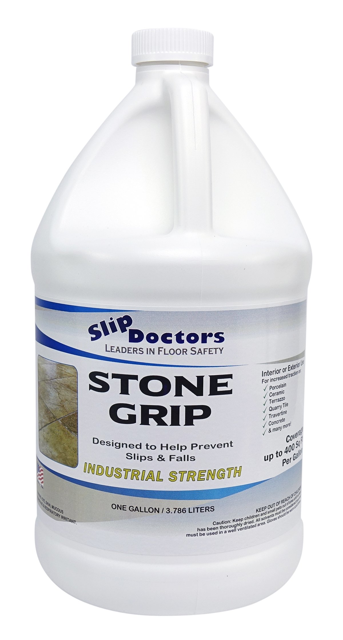 SlipDoctors Stone Grip Anti-Slip Floor Treatment, 1 Gallon Bottle, Yellow by Slip Doctors