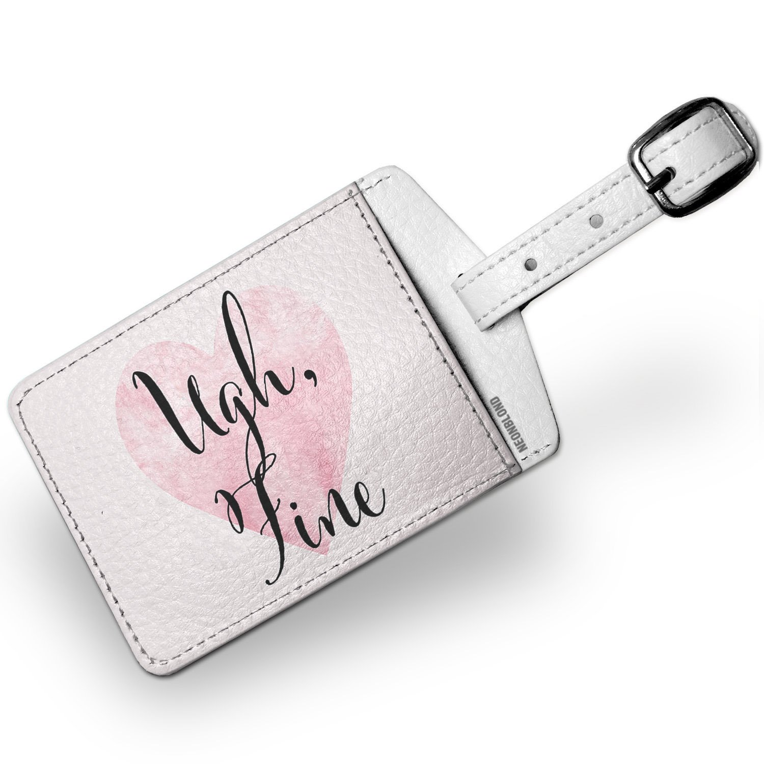Luggage Tag Ugh, Fine Valentine's Day Fancy Heart - NEONBLOND