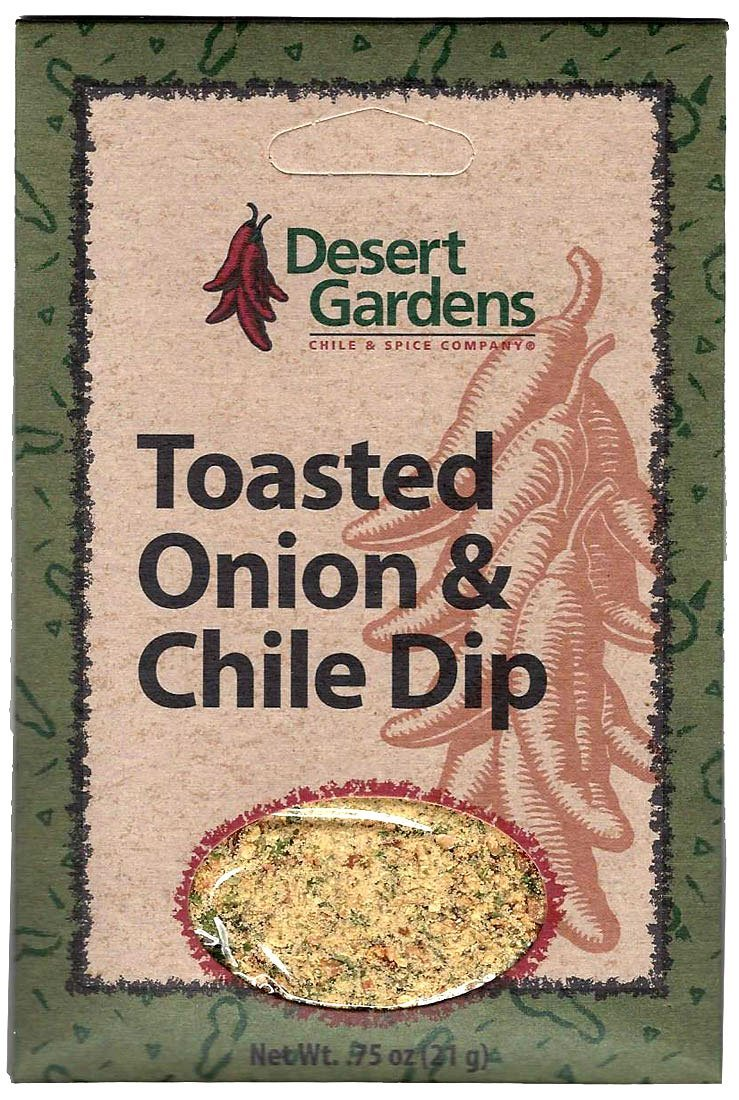 Desert Gardens Toasted Onion & Chile Dip Mix (Pack of 4) by Desert Gardens