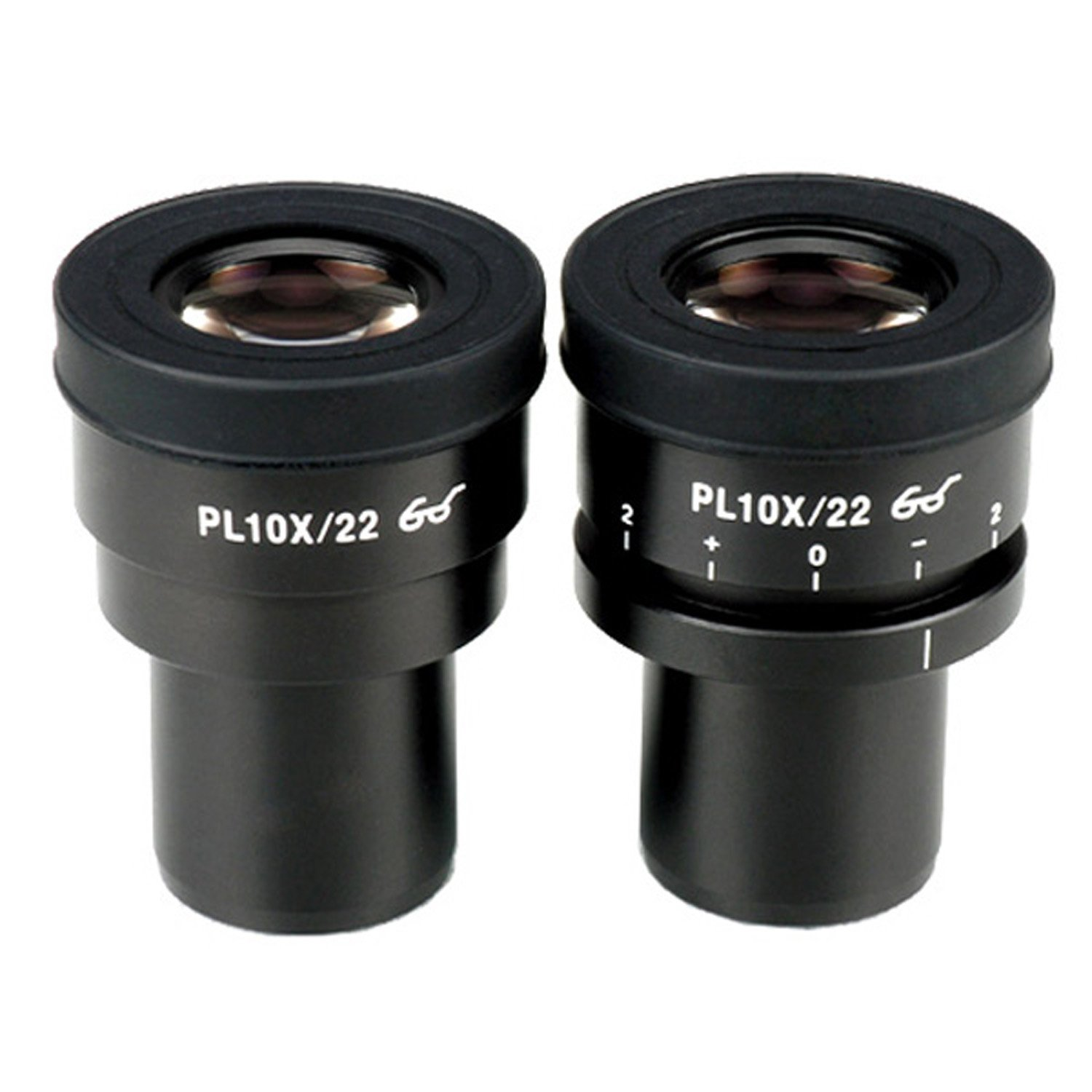 AmScope EP10X30PL 10X Focus Adjustable Plan Eyepieces for Zeiss, Leica and Nikon (30mm) by AmScope