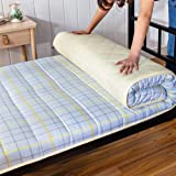 Japanese Foldable Mattress, Soft Breathable Futon Floor Mat Portable Cotton Sleeping Pad for Dormitory Living Room (Color : C, Size : 90x190cm(35x75inch))