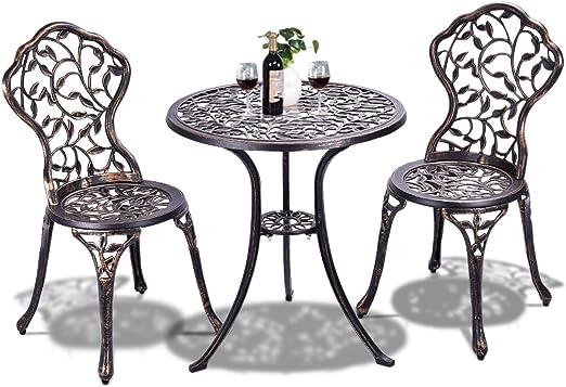 Tavoli Da Giardino Per Esterno.Goplus Set Tavolo E Sedie Da Giardino Per Esterno Tavolo Da