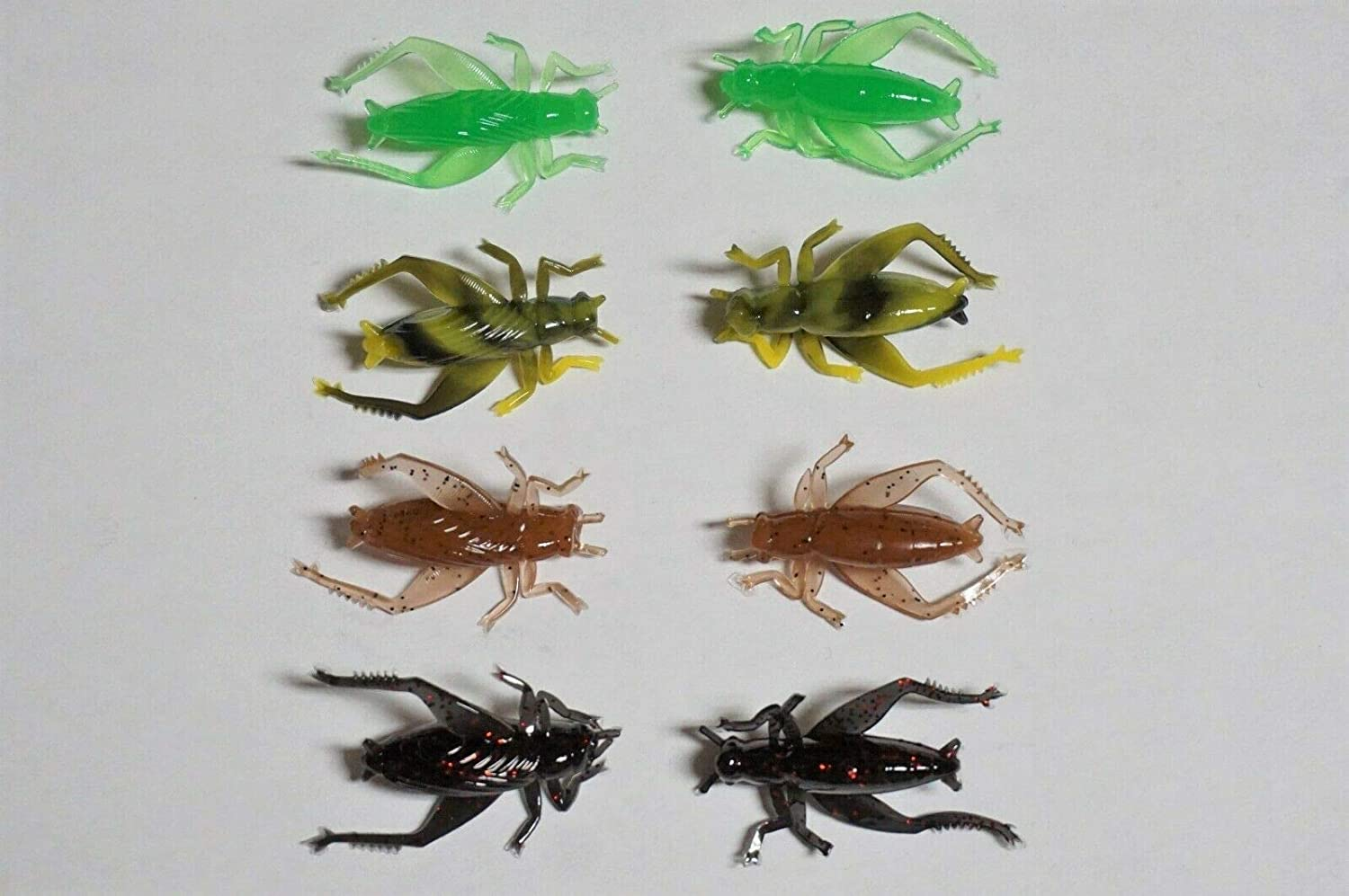 4 Colors 100-1 Cricket Soft Plastic Bass//Crappie Fishing Tackle Lures
