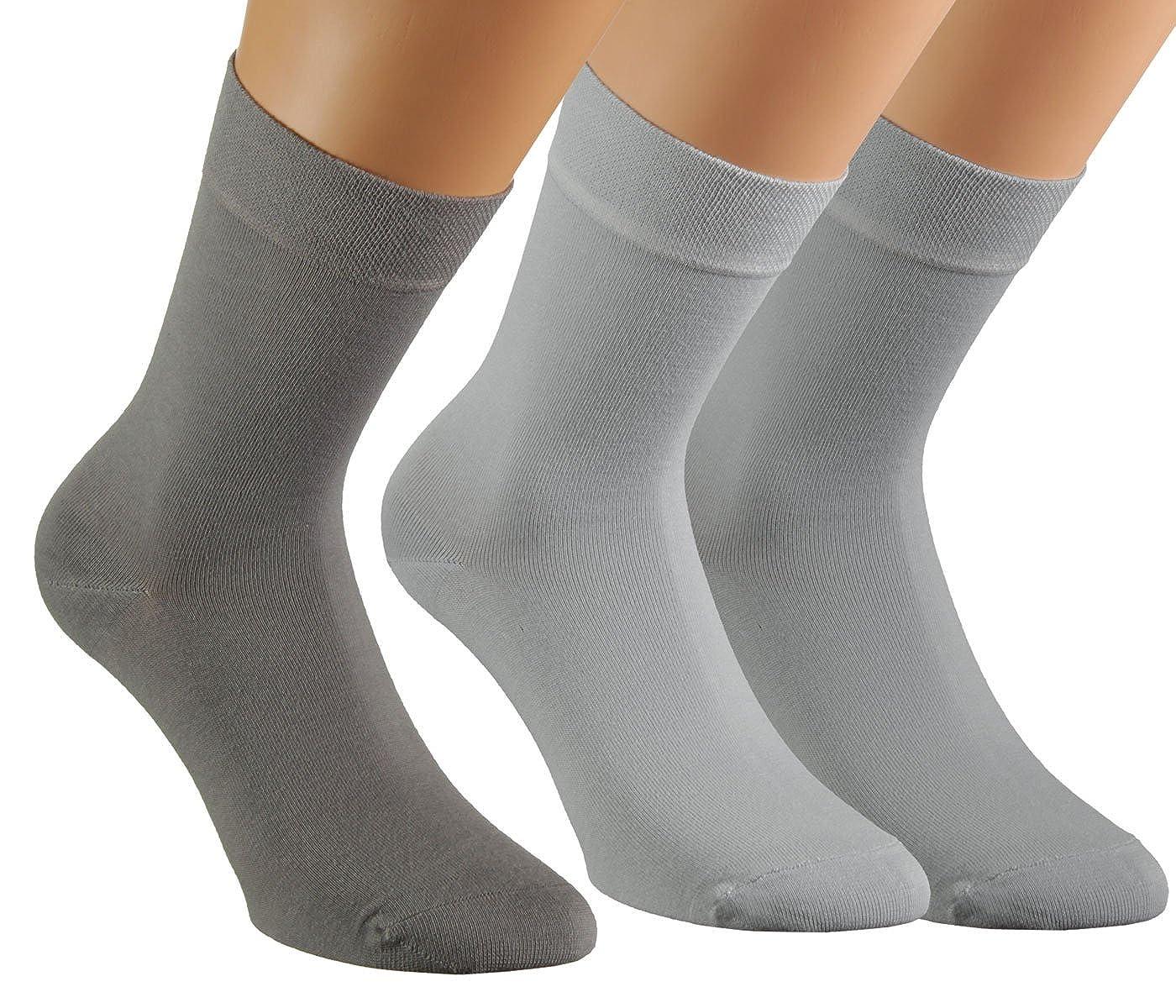 Vitasox Calcetines de señora algodón unicolor, sin elástico, sin costura, en set de 6 o de 12 en muchos colores: Amazon.es: Ropa y accesorios