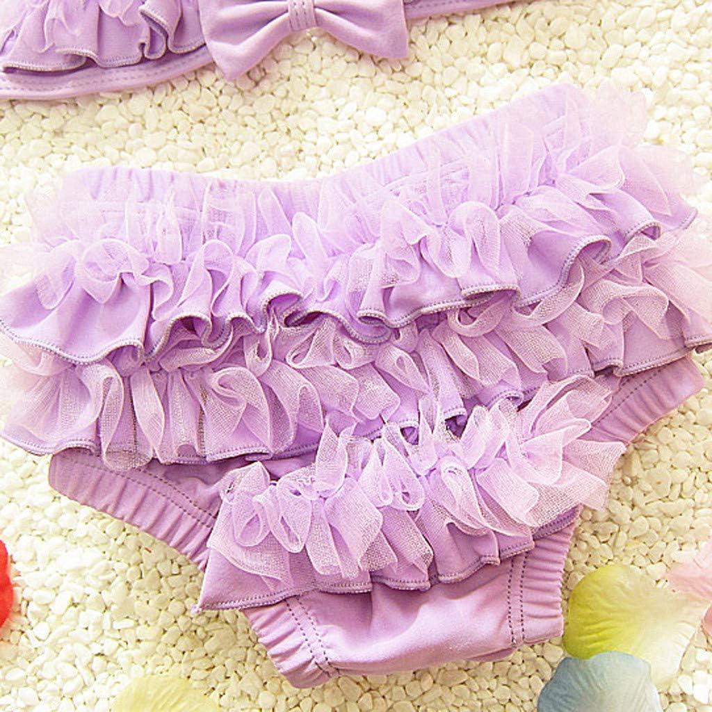 Kimanli Kids Baby Girl Bikini Ruffle Swimwear Swimsuit Bathing Suit