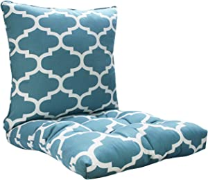FBTS Prime Chair Cushion and Pillow Green 20x20 Inch Patio Decorative Cushion Set for Outdoor Patio Indoor Garden Furniture