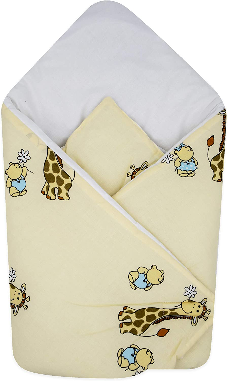 BlueberryShop Cotton Baby Swaddle Wrap Car Seat Blanket Blue Bear Perfect for Prams /& Cots Sleeping Bag for Newborns Intended for Kids Aged 0-3 Months 78 x 78 cm