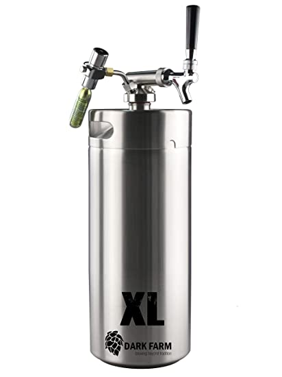 Dark Farm Portátil Home Brew Borrador Sistema 10L Mini Keg/Crecidor con Dispensador de CO2