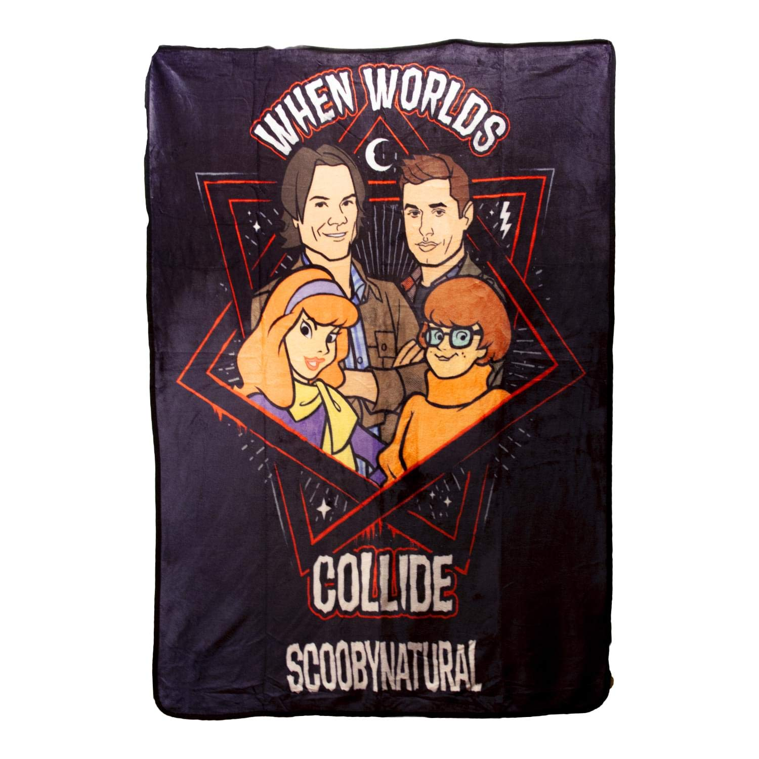 Supernatural Collectibles Scooby Multi-Character Fleece Blanket   45'' x 60''