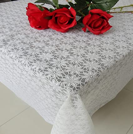 Hyun times Manteles de encaje impermeable toallas de tela de plástico desechables manteles de mesa de