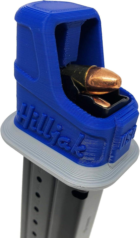 Hilljak Taurus G2C TH-9; Jimenez JA 9-9mm Double-Stack Magazine Loader Blue Gray Stripe PT-111 TH9