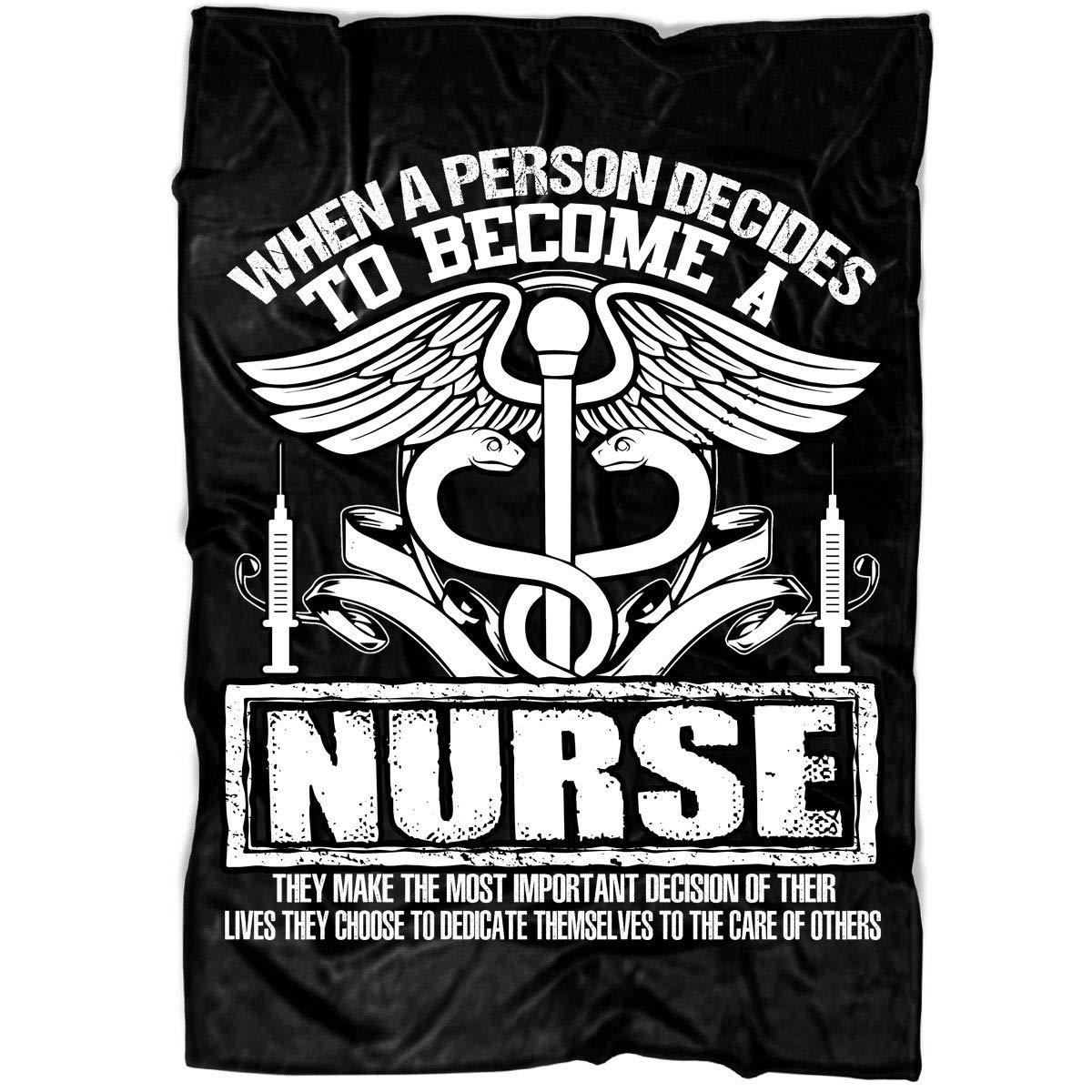 Amazon.com: TUCSTORE Become A Nurse Soft Fleece Throw ...
