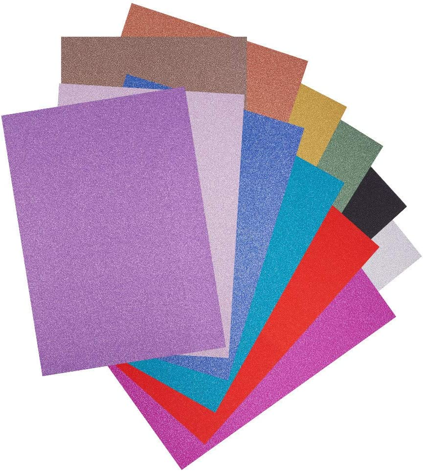 450 X SHINY GLITTER A4 SIZE CARDS 250GSM THICK PAPER SHEET SELF ADHESIVE CARD