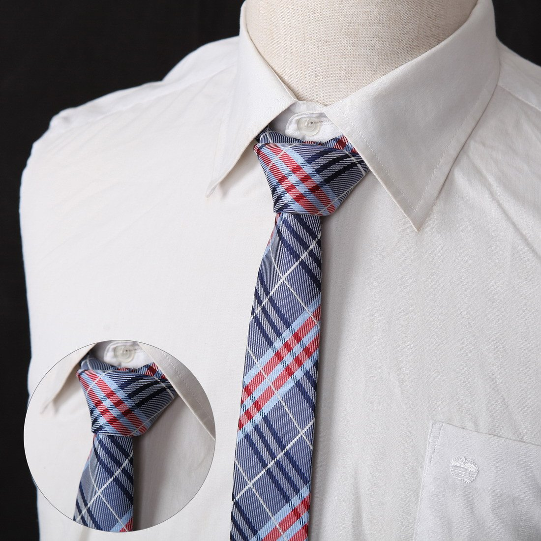 DANF0039 Series Colors 5cm-width Polyester Slim Ties Creative Fashion Skinny Ties - 5 Styles Available Inspire For Business By Dan Smith by Dan Smith (Image #3)