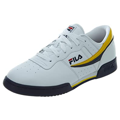 41e71d411864 Fila Original Fitness White Navy Lemon (9 D(M) US)