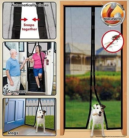 Instant Mesh Screen Door Magnetic Hands Free Bug Net Mosquito Fly