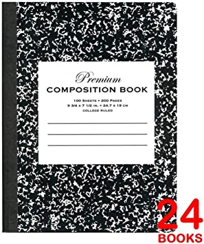 Pack 48 Omura Composition Book Wide Ruled 200 Pages