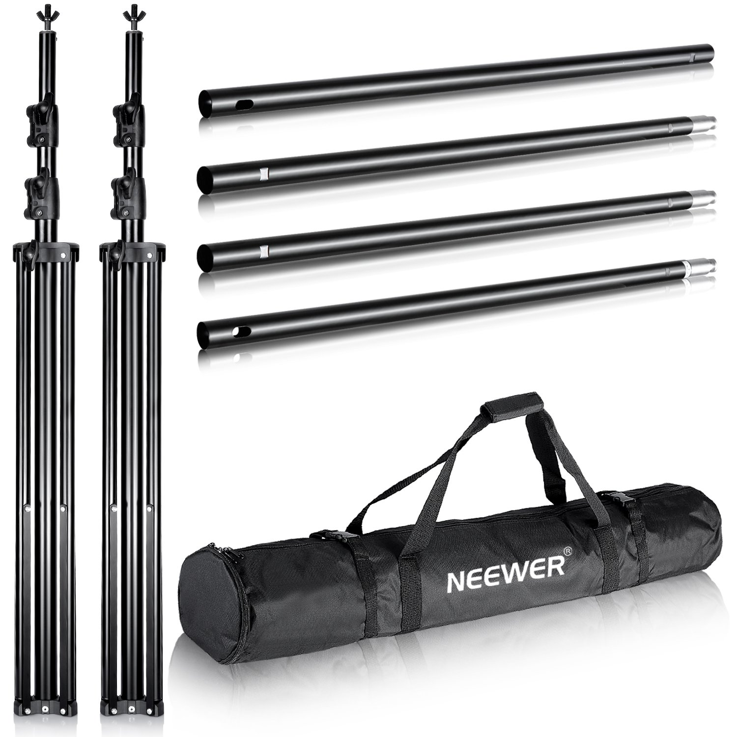 Neewer Pro 10x12 feet/3x3.6 Meters Heavy Duty Adjustable Backdrop Support System Photography Studio Video Stand with Carrying Bag for Backdrop Background by Neewer (Image #2)