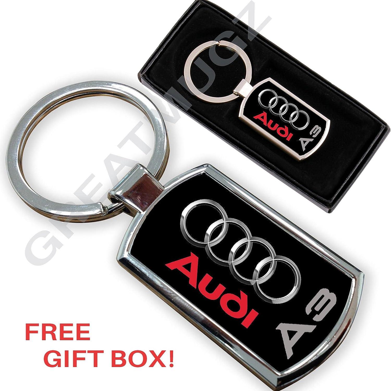 Cargifts - Llavero de Metal Cromado para Audi A3: Amazon.es ...
