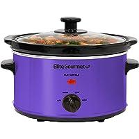 Elite Gourmet MST-275XP Electric Slow Cooker, Adjustable Temp, Entrees, Sauces, Stews & Dips, Dishwasher-Safe Glass Lid…
