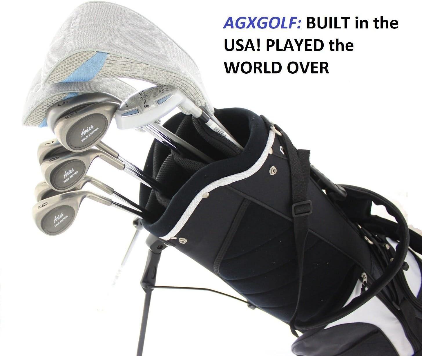 AGXGOLF Ladies Right Hand牡羊座CompleteゴルフクラブセットW /スタンドバッグ+ドライバー+ 3 WD +ハイブリッド+ 5 – 9アイアン+ Pitchingウェッジ+無料パター:小柄、RegularまたはTall長; USA Built 。  Regular Length