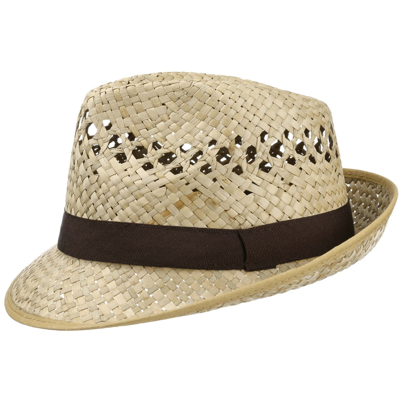 Classic Straw Hat (Trilby) Men and Women | Hat in a Natural Colour | Sizes S, M, L and XL | Summer Hat with a Black Grosgrain Ribbon | Sun Hat Made in Italy | Beach Hat for The Summer Lipodo