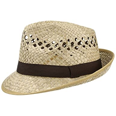 90784631b Classic Straw Hat (Trilby) Men and Women | Hat in a Natural Colour | Sizes  S, M, L and XL | Summer Hat with a Black Grosgrain Ribbon | Sun Hat Made in  ...