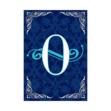 Monogram Garden Flag Blue Background With Letter O Print Flags Of Double Sided 100% Polyester