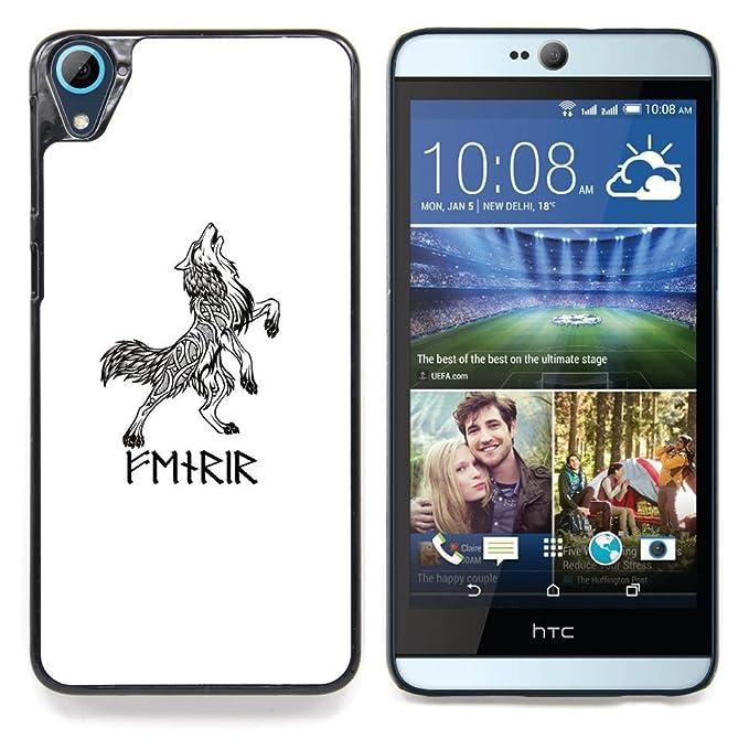 For HTC Desire 826 Case , Tatuaje celta Vikingo Lobo Tinta Negro ...