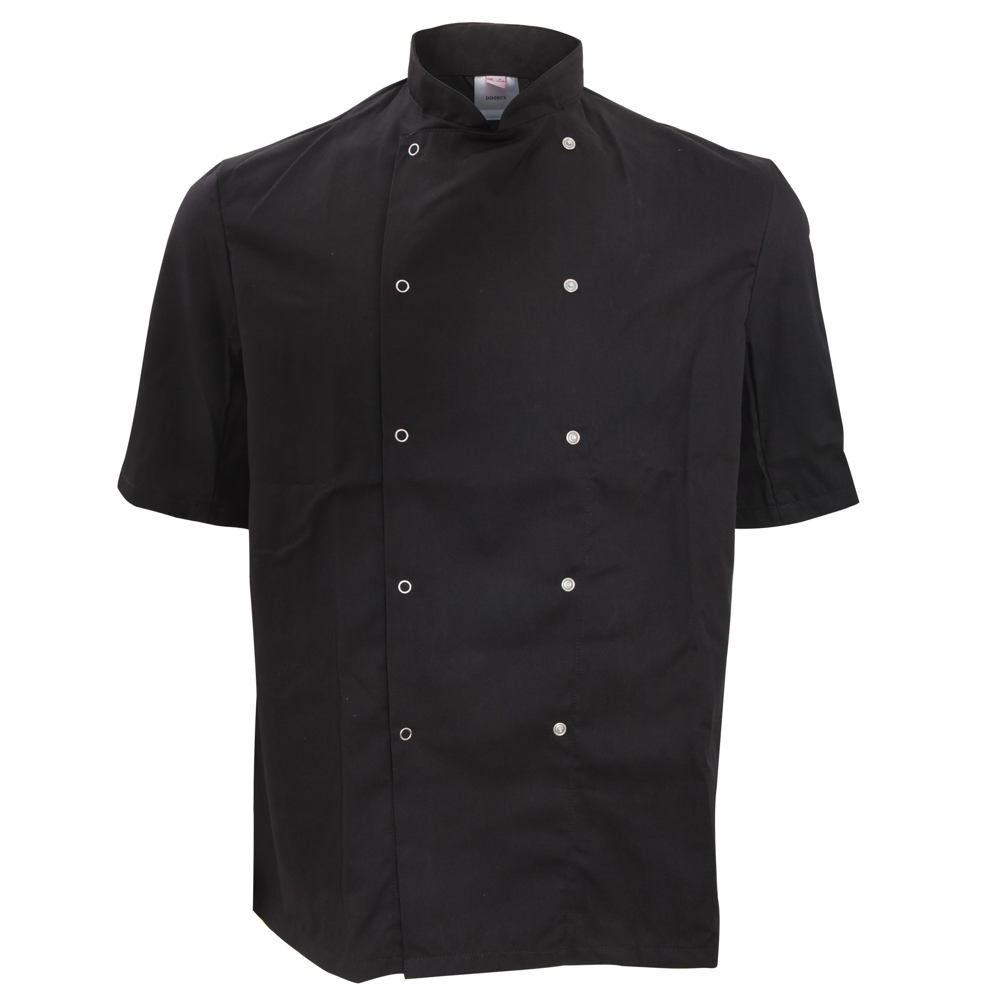 Dennys Unisex Short Sleeve Press Stud Chef Jacket (S) (Black) by Denny's
